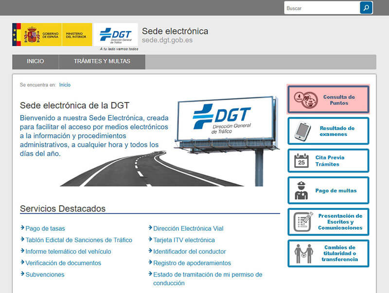 consulta de puntos online - DGT