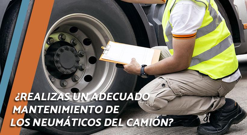 neumaticos del camion - mantenimiento de las ruedas