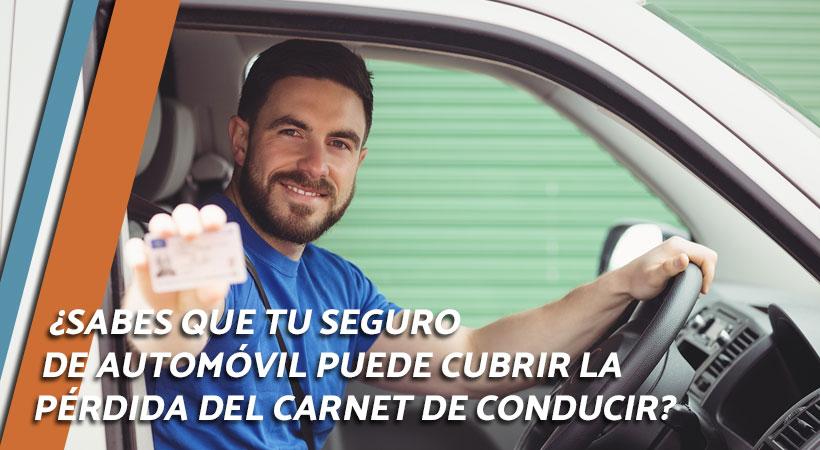 seguro cubre pérdida del carnet de conducir
